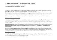 DP L'Art en mouvements - Mercedes-Benz Center - Sitesreseau ...