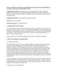 2005/06/07 Procès-verbal - CIRA