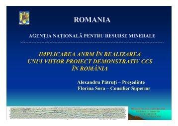 Implicarea ANRM in realizare proiect demo ... - Getica CCS