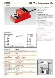 NM230-F Form-fit damper actuator 8 Nm - Belimo