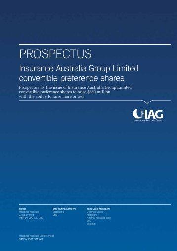IAG CPS Prospectus
