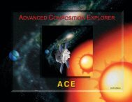 Advanced Composition Explorer - Cosmic and Heliospheric ...