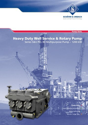 Heavy Duty Well Service & Rotary Pump - Woma