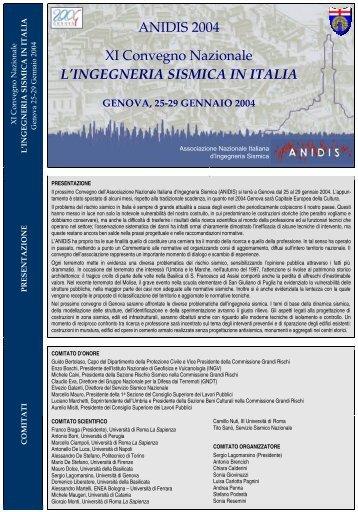 ANIDIS 2004 XI Convegno Nazionale L'INGEGNERIA SISMICA IN ...