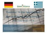 Projekt auf einen Blick - Green Alliance