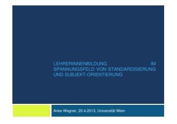 Folien Professor Wegner - Universität Wien