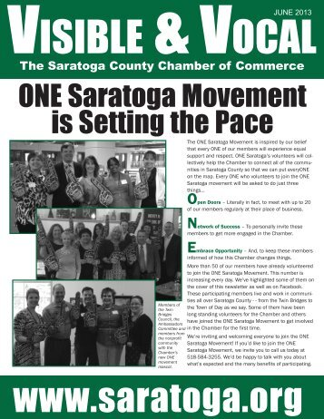 ONE Saratoga Movement is Setting the Pace - Saratoga County ...