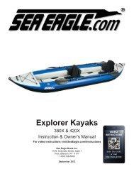 Explorer Kayaks - Sea Eagle Inflatable Boats