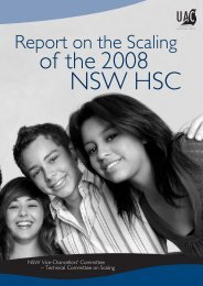 Report on the Scaling - Universities Admissions Centre