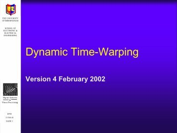 Dynamic Time-Warping - University of Birmingham
