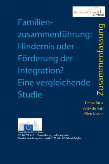 Hindernis oder Förderung der Integration? Eine vergleichende ...