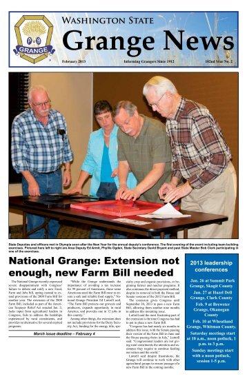 February 2013 Issue - Washington State Grange