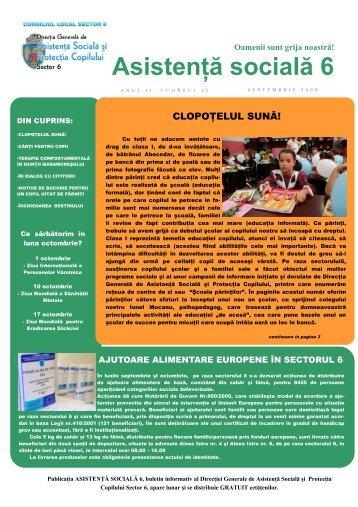 Revista DGASPC Sector 6, Numarul 12 - Septembrie 2009 - Direcţia ...