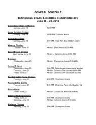 general schedule tennessee state 4-h horse championships