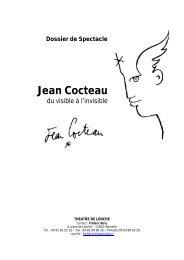 Dossier de Spectacle Jean Cocteau