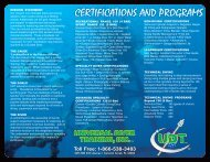 Toll Free - Universal Diver Training
