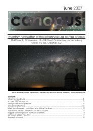Canopus June 2007 - Astronomical Society of Southern Africa