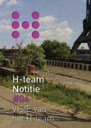 Visie van het H-team - Nationaal Programma Herbestemming