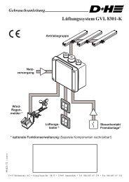 GVL 8301-K - Lüftungssystem (1021.92KB) - D+H Mechatronic