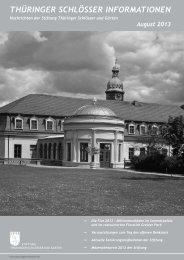 THÜRINGER SCHLÖSSER INFORMATIONEN - Stiftung Thüringer ...