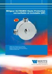 Mitigeur ULTRAMIX Haute Protection verrouillable ... - Watts Industries