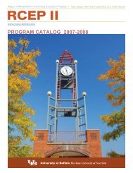 Program Catalog 2007-2008 - UB Graduate School of Education ...