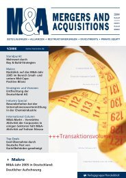 M&A Merger and Acquisitions - Klein & Coll.