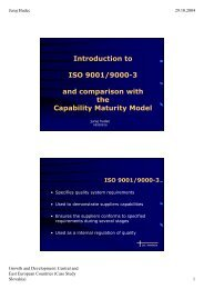 Introduction to ISO 9001/9000-3 and comparison with the Capability ...