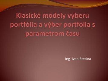 Dynamický model výberu portfólia