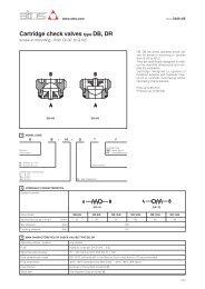 Cartridge check valves type DB, DR