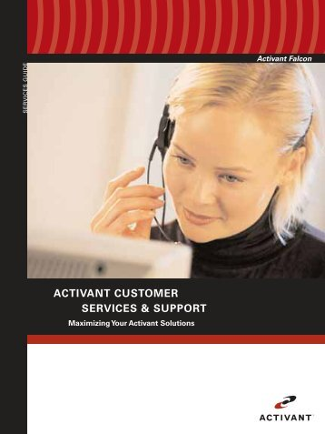 ACTIVANT CUSTOMER SERVICES & SUPPORT