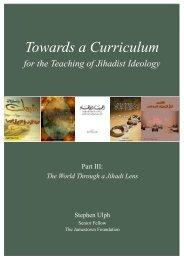 Towards a Curriculum for the Teaching of Jihadist Ideology