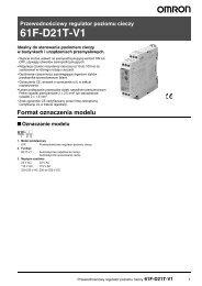 Przewodnościowy regulator poziomu cieczy 61F-D21T-V1 - EkT