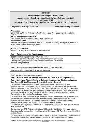Protokoll der öffentlichen Sitzung vom 05.04.2012 (pdf