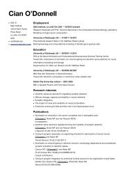 Cian CV - Systems Neurobiology Laboratory