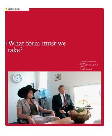 What form must we take? - Gareth Kennedy