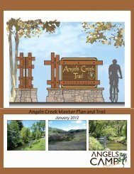 Angels Creek Master Plan and Trail - City of Angels Camp