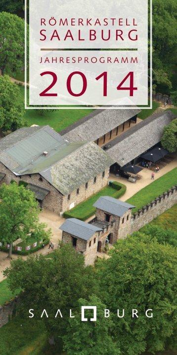 Jahresprogramm 2014 zum Herunterladen (PDF) - Römerkastell ...