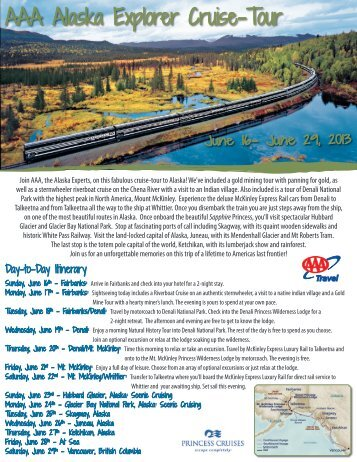 AAA Alaska Explorer Cruise-Tour - AAA Northwest Ohio