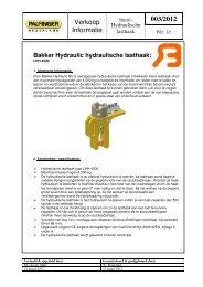 Productinformatieblad PIA 2012-003 Bakker Hydraulic ... - Palfinger