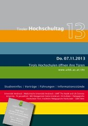 Download THT2013-Brochüre als PDF - VISIO-Tirol