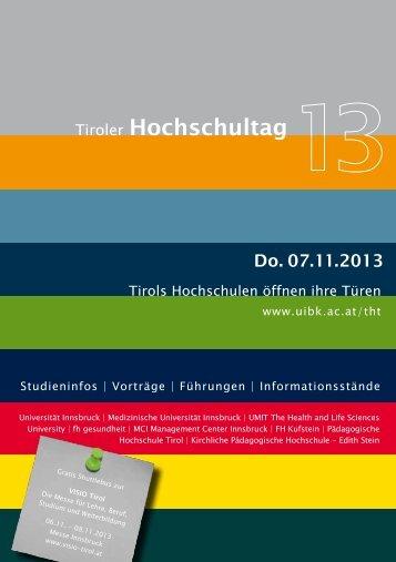 Download THT2013-Brochüre als PDF - VISIO-Tirol