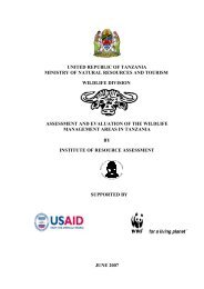 united republic of tanzania ministry of natural resources and tourism