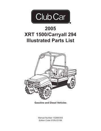 club car carryall 500 parts manual