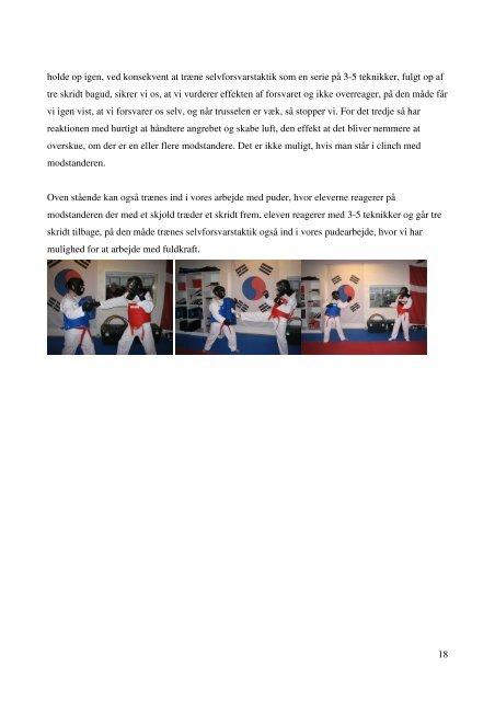 og undervisning i selvforsvar - Dansk Taekwondo Forbund