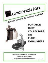 PORTABLE DUST COLLECTORS and FUME ... - Cincinnati Fan