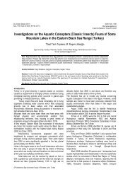 Investigations on the Aquatic Coleoptera (Classis: Insecta) Fauna of ...