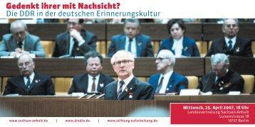 Veranstaltungsflyer [230 KB] - Bundesstiftung zur Aufarbeitung der ...