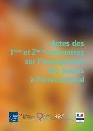 Actes des 1ères et 2èmes rencontres sur l'engagement des jeunes à ...