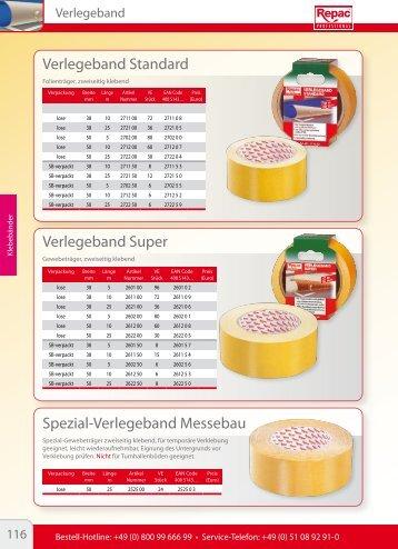 Verlegeband Standard Verlegeband Super Spezial ... - Repac